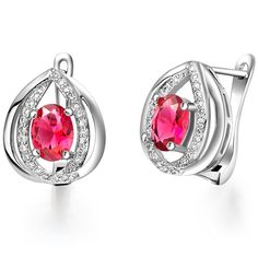 Find More Stud Earrings Information about Uloveido 40% off Water drop Shaped Stud Earrings for Women Sterling Silver Created Sapphire Pink Jewelry Earring With Stone R724,High Quality earrings pics,China earrings turkey Suppliers, Cheap earring 2013 from ULOVE Fashion Jewelry Official Store on Aliexpress.com