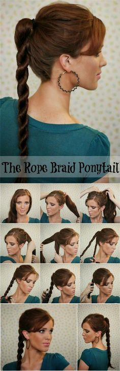 this low pony has a braided twist — just to give it extra messy braided ponytail for shorter hair tutorial wonder twisted ponytail crown braid ponytail gigi ponytail hairstyles to help you beat the heat medium hair updos that are as easy as 1 Ponytail Hairstyles Tutorial, Ponytail Tutorial, Gym Hairstyles, Summer Hairstyles, Braided Hairstyles, Hairstyle Tutorials, Hairstyle Ideas, Updo Hairstyle, Wedding Hairstyles