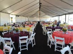 Gala XXI: The dining area which served 300 people