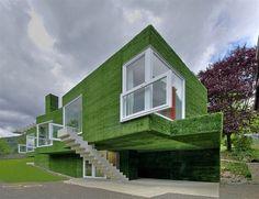 grass facade building