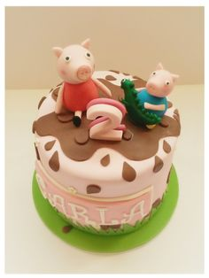 Peppa Pig cake www. Tortas Peppa Pig, Bolo Da Peppa Pig, George Pig Party, Girl Birthday, Birthday Cake, Cake Cafe, Cakes For Women, Pizza Rolls, Themed Cakes