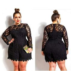 Ladies, do you like to dress Classy and Sexy?  If so, this is for you! Hurry and get this STYLISH Romper for a limited of time w/Free Shipping!  Tag a Friend!  #lace #black #fashion #plussize #plus #style #classy #class #shopping #curves #curvy #thick #curvyfashion Get it Here Now-->https://prestige-plus-boutique.myshopify.com/products/lace-long-sleeve-romper