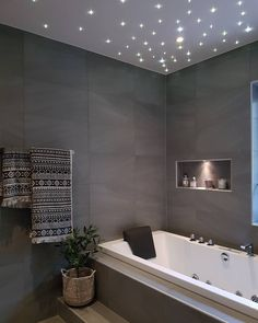 30 Gorgeous Bathroom Ceiling Ideas 2020 (You'll Get Amazed) - Dovenda Small Grey Bathrooms, Gray And White Bathroom, Gray Bathroom Decor, White Bathroom Tiles, Basement Bathroom, Bathroom Interior, Modern Bathroom, Bathroom Ideas, Bathroom Ceilings