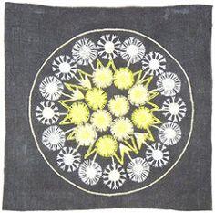 """Broderi / Embroidery """"Maskros"""" design Ingrid Skerfe-Nilsson, 1955"""