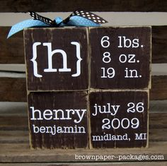 Cute way to never forget your babie's info!