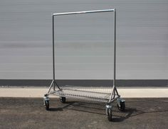 The 'On-Set' garment rail. HDCC 4ft garment rail with larger off road wheels and base tray.