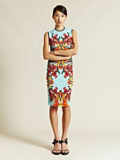 Givenchy Womens Printed Short Sleeved Dress