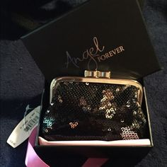 Victoria's Secret Black Sequin Mini Bag ADORABLE VS Angel Forever black sequined mini-clutch, change purse, makeup bag for your purse - whatever you would want to use it for. New in gift box w/tag. Victoria's Secret Bags Cosmetic Bags & Cases