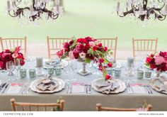 Red, romantic and strikingly modern   Styled Shoots   The Pretty Blog
