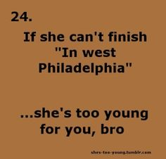 "This is hilarious hah who remembers ""Shes To Young For You, Bro"" ?"