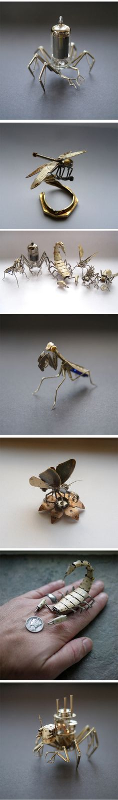 Tiny steampunk insects...