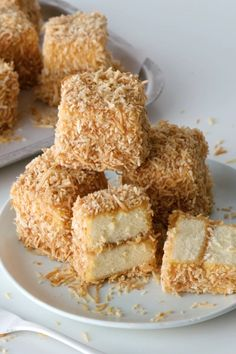 We've taken two Aussie cult favourites - Caramilk chocolate and lamingtons - and transformed into the ultimate sweet treat. Aussie Food, Australian Food, Australian Desserts, Australian Recipes, Lamington Cake Recipe, Lamingtons Recipe, Sweet Recipes, Cake Recipes, Dessert Recipes