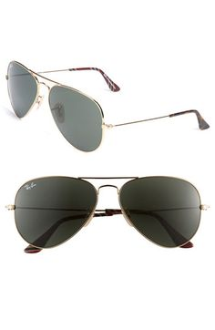 Ban the Rays in Style! A bold top bar updates classic metal-frame aviators.