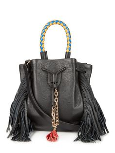 Shopping at BE(YOU)TIFUL is guaranteed to take your style to the next level! Brands: Oscar de la Renta, Chloé, Isabel Marant, Kenneth Jay Lane, Elisabeth and James. Black Shoulder Bag, Chain Shoulder Bag, Shoulder Handbags, Leather Shoulder Bag, Shoulder Bags, Fringe Handbags, Black Handbags, Fringe Purse, Leather Purses