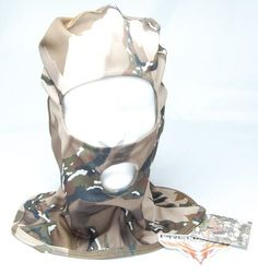 Stretch-Fit Camouflaged Full Hood Facemask by Jest. $1.04. Camo face mask/hood with one large eye hole and mouth hole. Perfect for the warmer season hunts. Great camo to conceal face, head, and neck without getting in the way. Comfortable and allows full vision. Make some room on your wall and reserve an appointment with your taxidermist! Also great for the paint-baller and adventurous kids. Perfect for Turkey season!!!