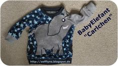 "aefflynS - to go: BabyElefant ""Carlchen"" ★ Tutorial II Embroidery On Clothes, Shirt Embroidery, Patterned Button Up Shirts, Baby Elefant, Elephant Shirt, Dog Backpack, Off Shoulder Shirt, V Stitch, Simple Shirts"