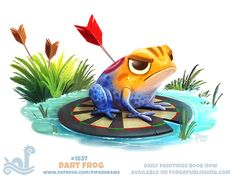 Daily Paint 1837# Dart Frog by Cryptid-Creations