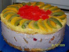 Reteta Tort cu iaurt si jeleu din categoria Dulciuri diverse Sushi, Watermelon, Fruit, Cooking, Ethnic Recipes, Desserts, Food, Pie, Cooking Recipes