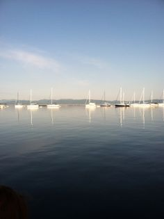 Boats on Lake Champlain in Burlington, Vermont