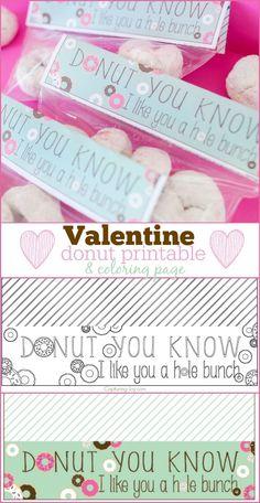 Donut Valentine Free Printable - Capturing Joy with Kristen Duke