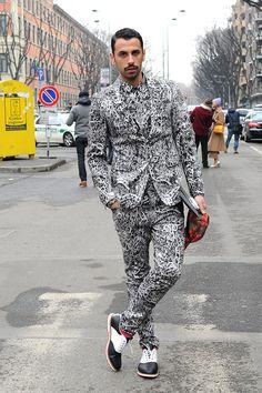 Street Style Menswear FW 13-14 #mensinprints #mens #prints #spring #trends