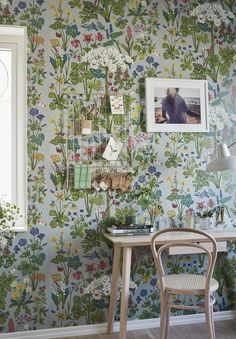 This is Aurora wallpaper by Borastapater and designed by Lisbet Jobs. part of the Scandinavian designers collection 11 and a luscious meadow of wild flowers to adorn your walls. Visit our website to order a sample and look at the whole collection.