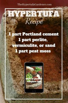 Basic Recipe for Hypertufa is a starting point for all your projects. you may need to tweak it as you learn and make your own projects. Succulent Gardening, Garden Planters, Organic Gardening, Container Gardening, Gardening Tips, Concrete Garden, Concrete Planters, Concrete Table, Types Of Concrete