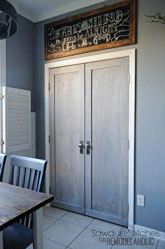 Modern Closet Doors For Bedrooms a diy door tutorial to add trim to plain bifold doors | closet doors