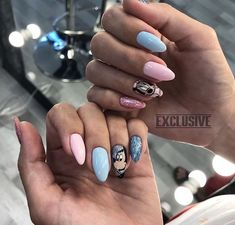 Pin by Olivia Waybrant on nails in 2019 Fancy Nails Designs, Purple Nail Designs, Beautiful Nail Designs, Glam Nails, Classy Nails, Cute Nails, Manicure Y Pedicure, Disney Nails, Purple Nails