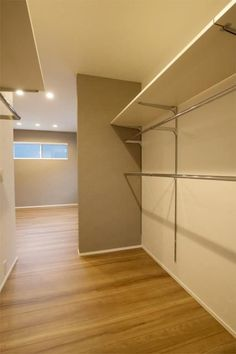 A walk-in closet can be quite a luxury. Who doesn't drool over those beautiful closets you see with miles of shelving and hanging space and even an island in the middle full of storage drawers? Narrow Closet Design, Closet Designs, Wardrobe Closet, Walk In Closet, Beautiful Closets, Dressing Room Design, Closet Layout, Small Closet Organization, Home Office Setup