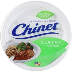 Chinet Dinner Plates, Classic White, 15 Ct