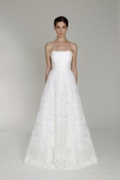 BL1322 - Wedding Dresses by Monique Lhuillier - Loverly - a-line, lace, strapless, natural wedding dress