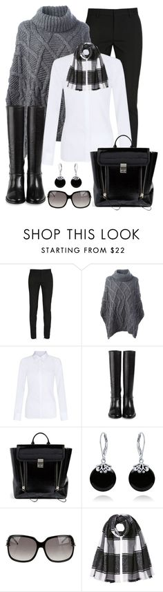 """""""Untitled #1171"""" by gallant81 ❤ liked on Polyvore featuring Yves Saint Laurent, Woolrich, Hobbs, Cole Haan, 3.1 Phillip Lim, Bling Jewelry, Gucci and Burberry"""