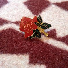 Rose Lapel Pin by LowlifeKnives on Etsy