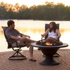 The Bronze Wood Burning Fire Pit Ensemble is a beautiful set that will allow you to gather friends and family for an enjoyable evening.