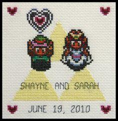 Zelda wedding cross stitch