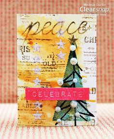 Mixed Media Christmas ATC with Cat's Eye Inkpads by Meihsia Liu | Clearsnap Blog
