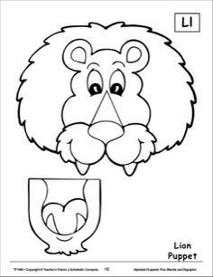 Paper Bag Puppet Template Lion: paper bag puppet pattern