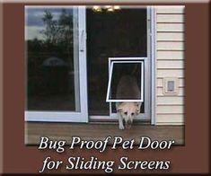 Dog Door Sliding Patio Door | High Performance Pet Screen Door for sliding screen doors - 4 sizes ...