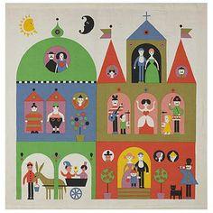 Palace wall hanging by Alexander Girard, Alexander Girard, Textiles, Lynda Barry, Lagom Design, Graphic Design, Retro Illustration, Mid Century Art, Elementary Art, Painting Inspiration