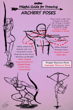 Another Guide for Drawing Archery Poses by JessKristen.deviantart.com on @deviantART