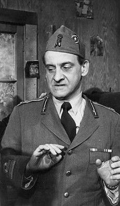 Hans Conried-Army 1944-(shown here in a scene from Hogan's Heroes)