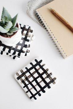 DIY Criss Cross Coasters