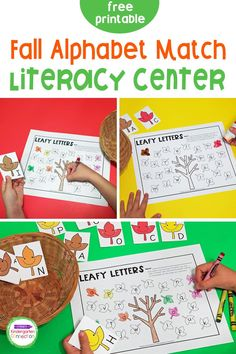 Grab this free Fall Leaf Letter Match activity printable that can be used for both Pre-K and Kindergarten literacy centers at any point during the autumn season! It's a low prep activity that will bring tons of fun into your classroom! Literacy Skills, Kindergarten Literacy, Literacy Activities, Literacy Centers, Preschool, Letter Matching, Letter I, Autumn Activities, Fun Learning