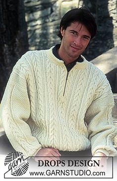 Ravelry: 48-17 Sweater with cables pattern by DROPS design