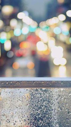 Rainy Street Window Bokeh #iPhone #5s #Wallpaper
