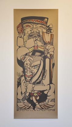 Image courtesy of Lance Cash and Enjoy. Polynesian Art, Madhubani Art, Maori Art, Doodles Zentangles, Visual Arts, Public Art, Doodle Art, Printmaking, Warriors