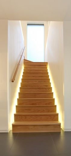 stairs_light Stair Lighting, Stairs, Loft, Interiors, Lights, Architecture, Projects, House, Home Decor