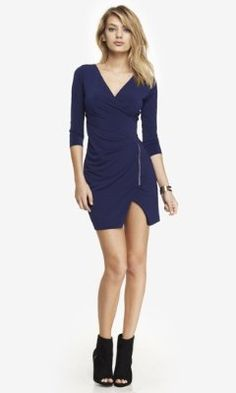 ZIP FRONT WRAP DRESS from EXPRESS. For annes's bach party?