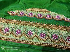 Black Blouse Designs, Simple Blouse Designs, Sari Blouse Designs, Simple Designs, Hand Work Embroidery, Simple Embroidery, Latest Embroidery Designs, Machine Embroidery Designs, Maggam Work Designs